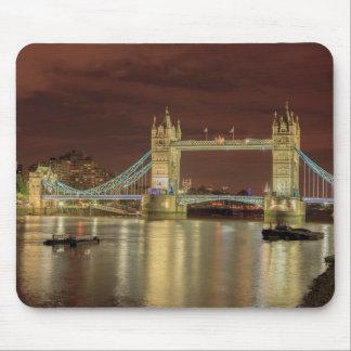 Tapis De Souris Pont de tour la nuit, Londres