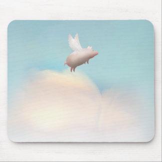 Tapis De Souris porc avec des ailes