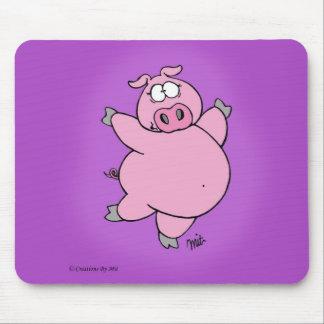 Tapis De Souris Porc caracolant Mousepad