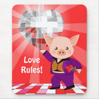 Tapis De Souris Porc de disco de Valentine