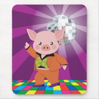 Tapis De Souris porc de disco sur la piste de danse