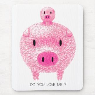 Tapis De Souris Porc rose