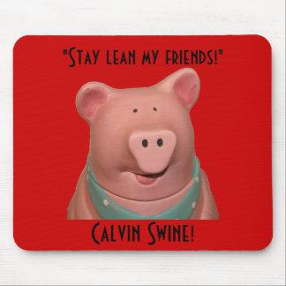 Tapis De Souris Porcs Mousepad de Calvin !