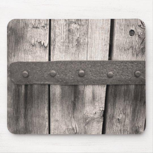 tapis de souris porte et charni re en bois rustiques. Black Bedroom Furniture Sets. Home Design Ideas