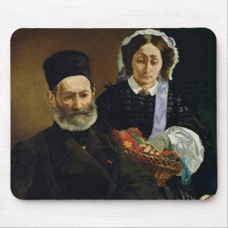 Tapis De Souris Portrait de Manet | de M et de Mme. Auguste Manet