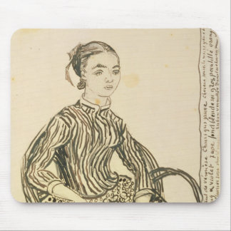 Tapis De Souris Portrait de Vincent van Gogh | d'une jeune fille,