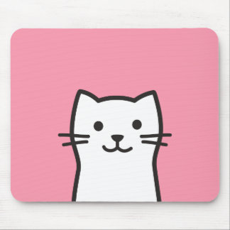 Tapis De Souris Portrait drôle de chat