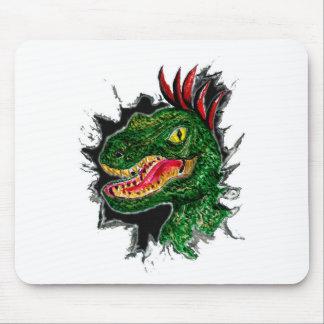 Tapis De Souris Portrait grunge de Velociraptor