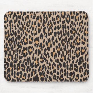 Tapis De Souris Poster de animal, léopard repéré - noir de Brown