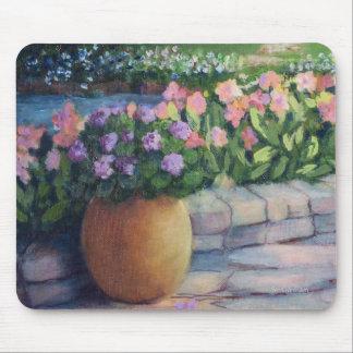 Tapis De Souris Pot et fleurs du Jardin-Plan-Or d'Elaine