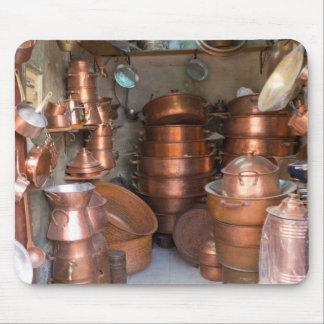 Tapis De Souris Pots de cuivre au marché