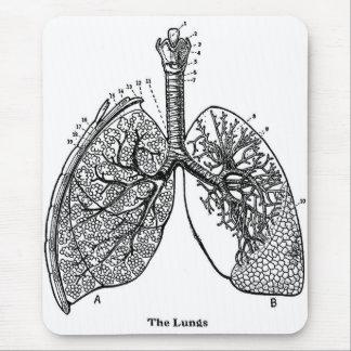 Tapis De Souris Poumons médicaux de rétro anatomie vintage de