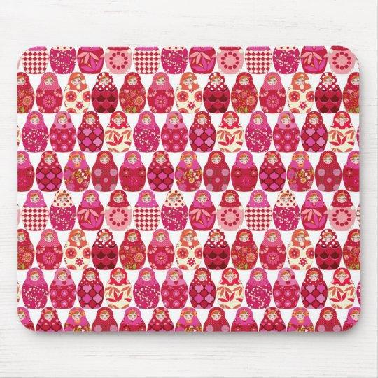 Tapis De Souris poupée russe rose