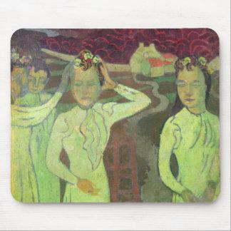 Tapis De Souris Première étude pour un portrait triple de Marthe