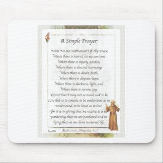 Tapis De Souris prière simple de St Francis