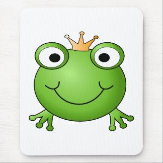 Tapis De Souris Prince de grenouille. Grenouille heureuse