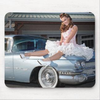 Tapis De Souris Princesse 1959 de Cadillac de chariot Pin Up Car
