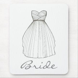 Tapis De Souris Princesse blanche Dress de mariage de robe de