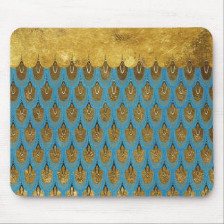 Tapis De Souris Princesse brillante Mermaid Glitter Scales d'or