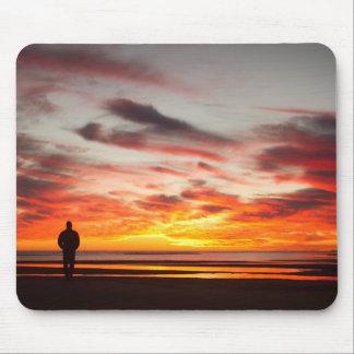 Tapis De Souris Promenade de coucher du soleil