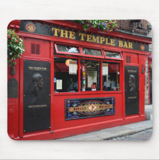 Tapis De Souris Pub rouge de barre de temple dans le mousepad de