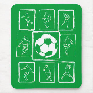 Tapis De Souris Qualifications peintes du football de motivation