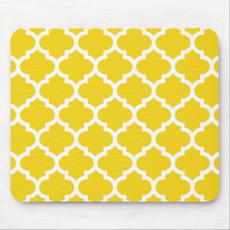 Tapis De Souris Quatrefoil jaune citron