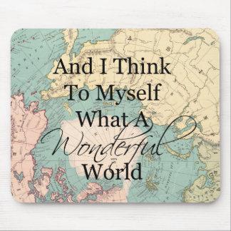 Tapis De Souris Quelle carte merveilleuse de souris du monde -