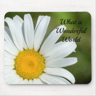 Tapis De Souris Quelle marguerite merveilleuse Mousepad floral du