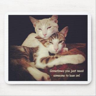Tapis De Souris Quelqu'un à se pencher sur des chats de Kitty