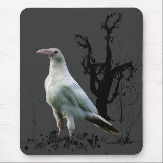 Tapis De Souris Raven blanc, oiseau sauvage, imaginaire, Goth