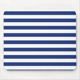 Tapis De Souris Rayures bleues et blanches de point chanceux