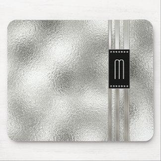 Tapis De Souris Rayures en métal sur le monogramme en verre ID443