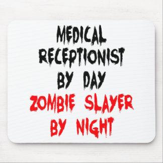 Tapis De Souris Réceptionniste médical de tueur de zombi