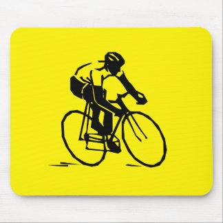 Tapis De Souris Recyclage jaune