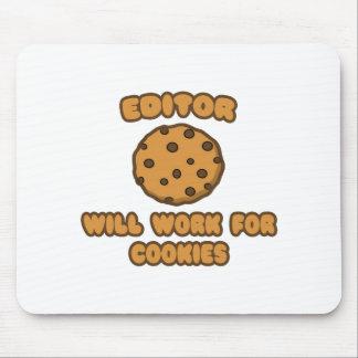 Tapis De Souris Rédacteur. Travaillera pour des biscuits