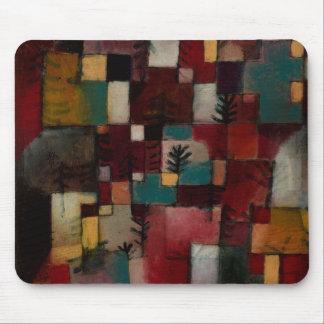 Tapis De Souris Redgreen et rythmes Violet-jaunes par Paul Klee