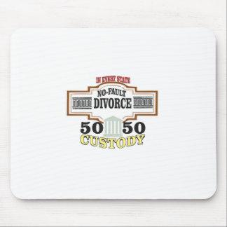 Tapis De Souris réduisez la garde 50 50 automatique de divorces