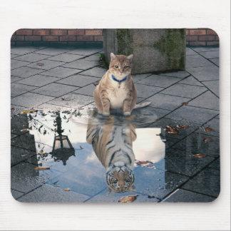 Tapis De Souris Réflexion de chat - gros chat - memes de chat -