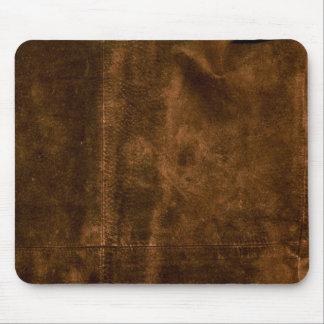 Tapis De Souris Regard de couture de suède de cuir