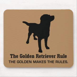 Tapis De Souris Règle Mousepad de golden retriever