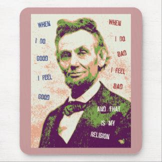 Tapis De Souris Religion de Lincoln