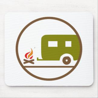 Tapis De Souris Remorque et feu de camp du camping rv