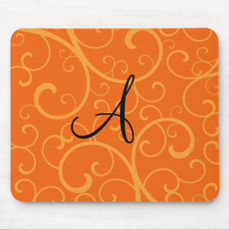 Tapis De Souris Remous d'orange de monogramme