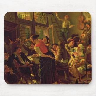 Tapis De Souris Repas de famille (huile sur la toile)
