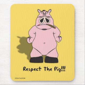 Tapis De Souris Respectez le porc