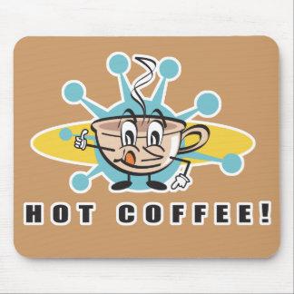 Tapis De Souris rétro conception chaude de café