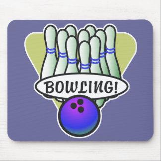 Tapis De Souris rétro conception de bowling