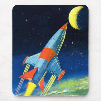 Tapis De Souris Rétro espace Rocket de Sci fi vintage le 'au Moon