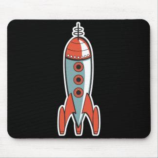 Tapis De Souris rétro fusée d'espace